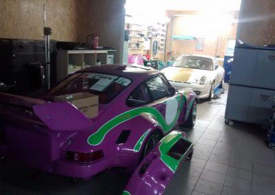 Porsche 964 Rennwagen Teilfolierung bei Exit Car Service Exit Cars & Bikes (5)