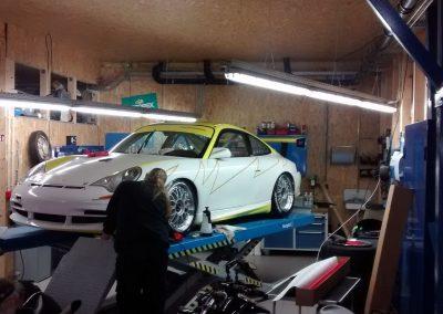 Porsche 996 Rennwagen Teilfolierung bei Exit Car Service Exit Cars & Bikes (15)