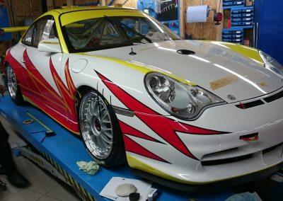 Porsche 996 Rennwagen Teilfolierung bei Exit Car Service Exit Cars & Bikes (17)
