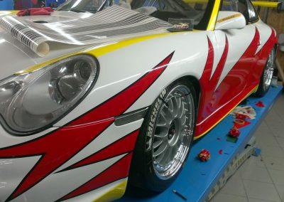Porsche 996 Rennwagen Teilfolierung bei Exit Car Service Exit Cars & Bikes (18)