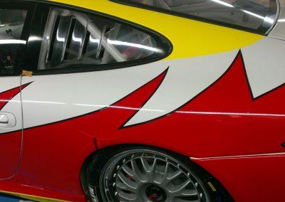Porsche 996 Rennwagen Teilfolierung bei Exit Car Service Exit Cars & Bikes (21)