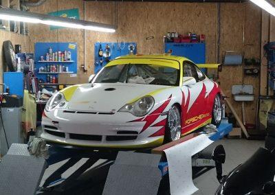 Porsche 996 Rennwagen Teilfolierung bei Exit Car Service Exit Cars & Bikes (24)