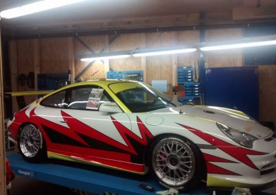 Porsche 996 Rennwagen Teilfolierung bei Exit Car Service Exit Cars & Bikes (26)