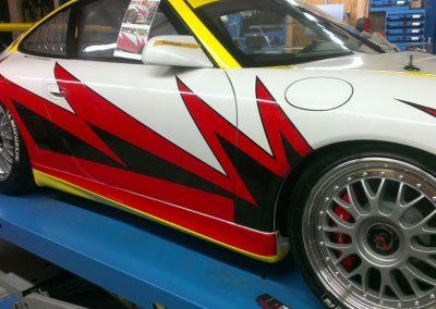 Porsche 996 Rennwagen Teilfolierung bei Exit Car Service Exit Cars & Bikes (27)