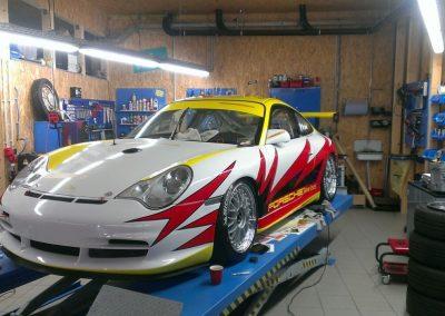 Porsche 996 Rennwagen Teilfolierung bei Exit Car Service Exit Cars & Bikes (28)