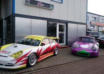 Porsche 996 Rennwagen Teilfolierung bei Exit Car Service Exit Cars & Bikes (32)